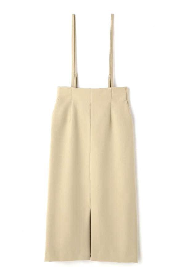 サスペンダー付カルゼタイトスカート