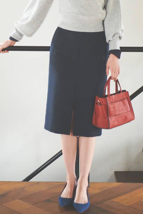 ダブルクロスポケットタイトスカート
