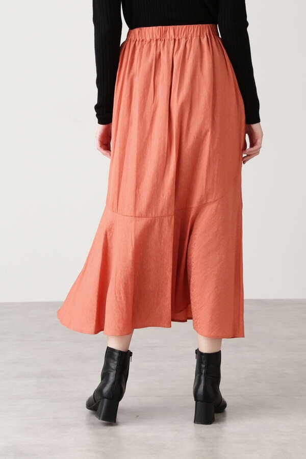 フラワージャガードマーメイドマキシスカート