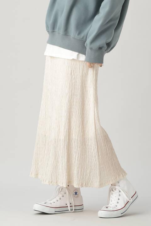 シャーリングナロースカート