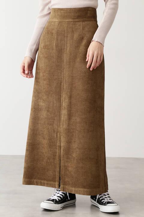 モールジャガードハイウエストタイトスカート