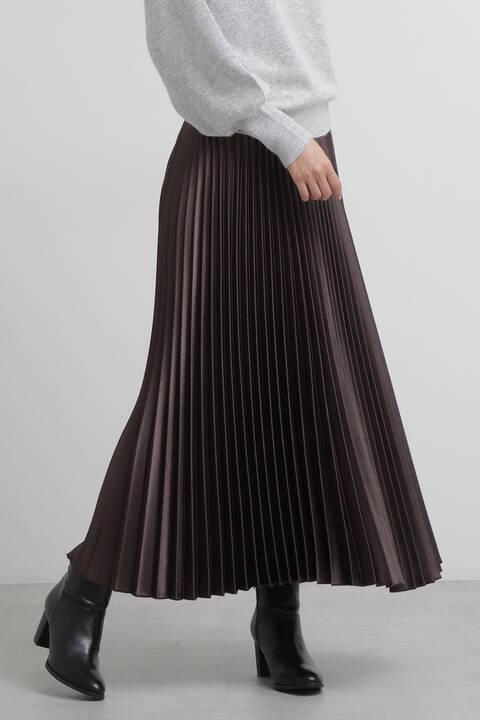 【先行予約8月中旬-8月下旬入荷予定】サテンプリーツスカート