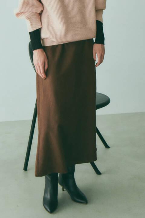 スウェードナロースカート
