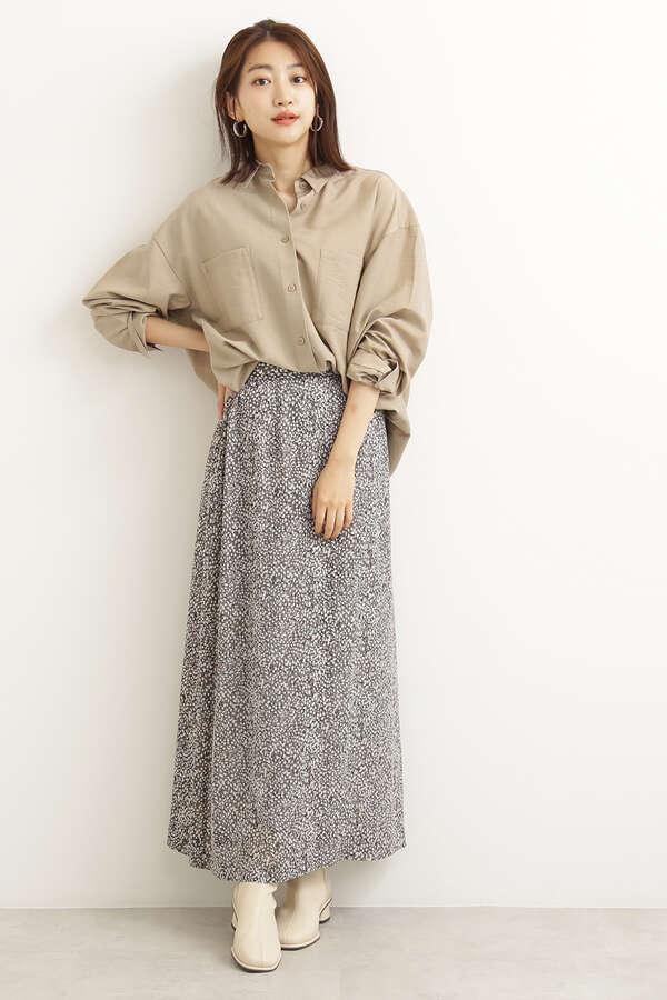 ボカシドットナロースカート