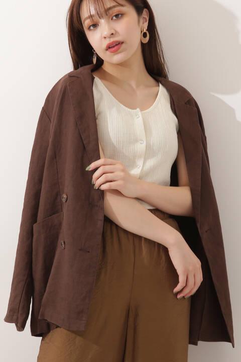 麻テーラードジャケット