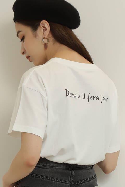 バックプリントメッセージTシャツ