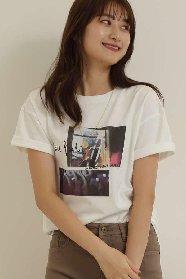 コラージュプリントTシャツ