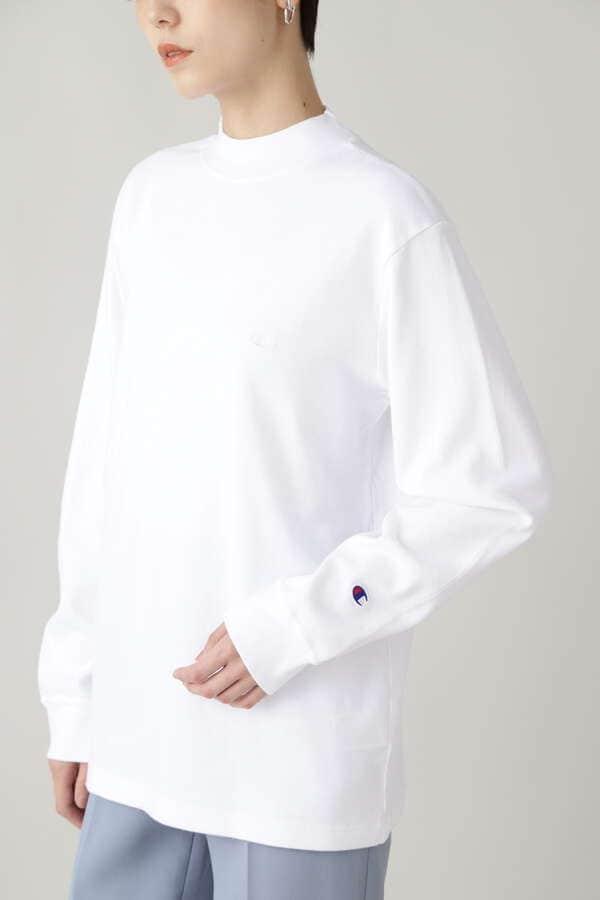 【Champion】モックネックロングスリーブTシャツ