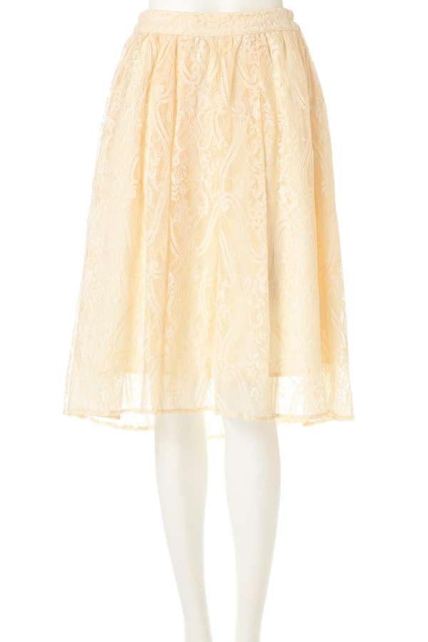 【and GIRL4月号掲載 中村アンさん着用】エンビヘムラッセルレーススカート