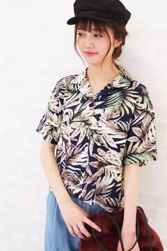 トロピカルショートシャツ