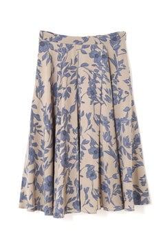 ラップ風フラワープリントスカート