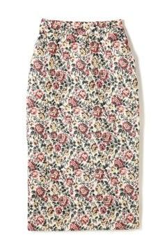 フラワージャガードロングタイトスカート