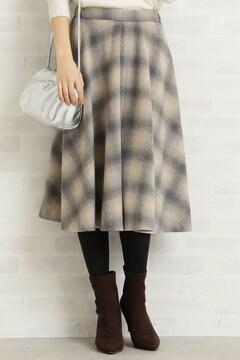 【先行予約_11月上旬お届け予定】シャギーオンブレーチェックスカート