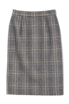 チェックツイードタイトスカート