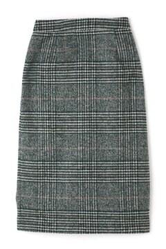 チェックミモレタイトスカート