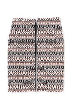 ジャガードジップタイトスカート