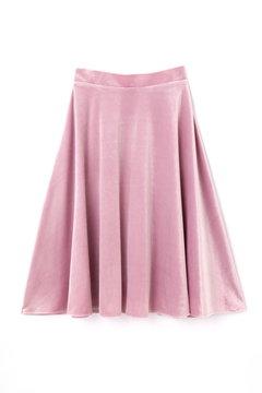 ストレッチベロアフレアースカート