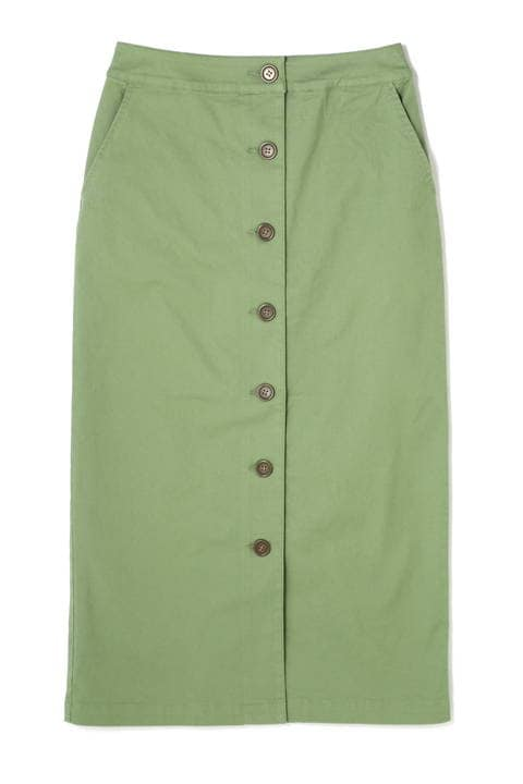 フロントボタンチノタイトマキシスカート