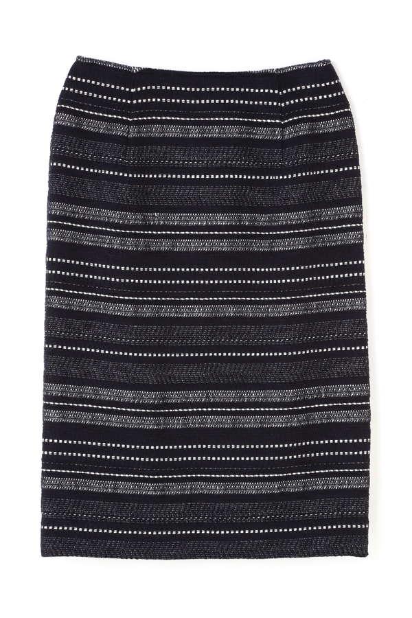 ボーダーツイードタイトスカート
