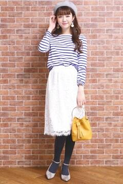 【先行予約_2月上旬入荷予定】スカラップレースセットアップスカート