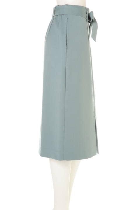 リボン付スリットタイトスカート
