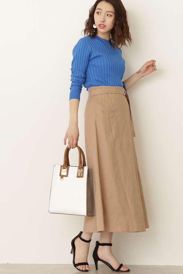 【先行予約4月中旬入荷予定】麻マキシスカート
