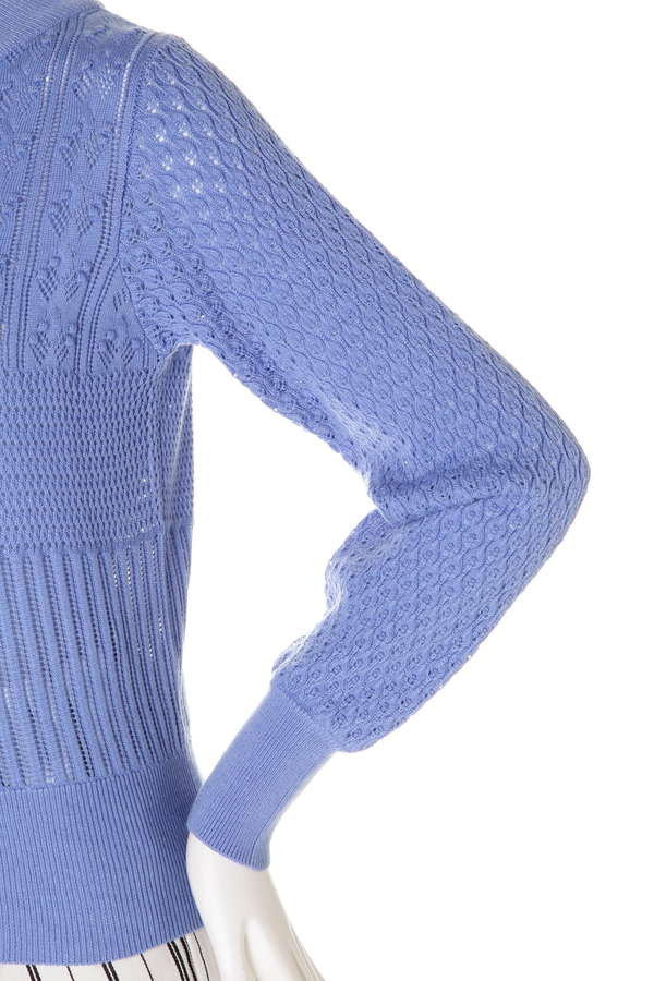 レース編みプルオーバー