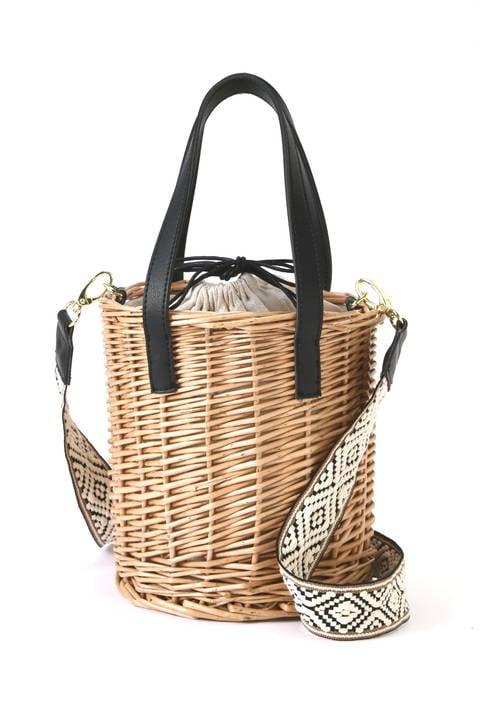 刺繍テープ柳ショルダーバッグ