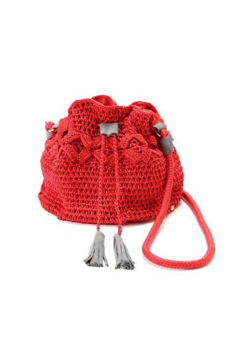 《KIKO》コードニット巾着ショルダーバッグ
