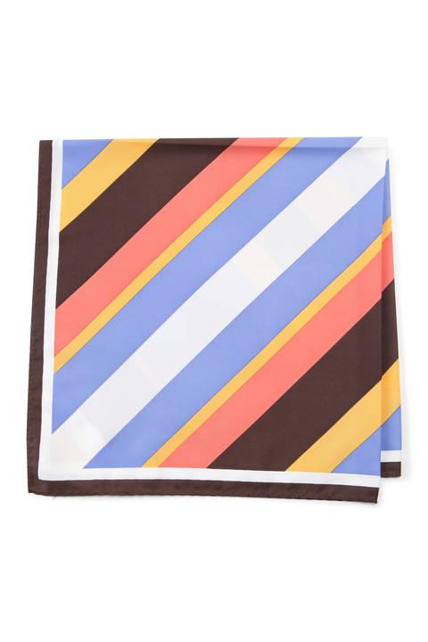 バイアスストライプ柄スカーフ