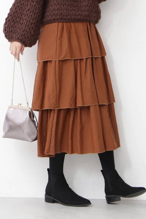 【先行予約11月中旬-11月下旬入荷予定】ティアードマキシスカート