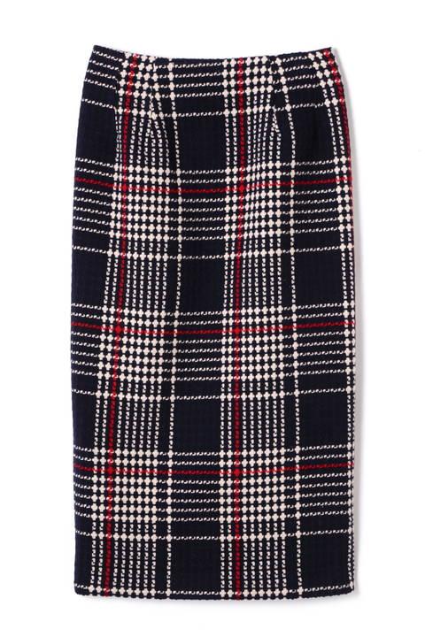 レトロチェックタイトスカート