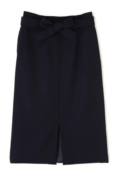 リボン付きスリットタイトスカート