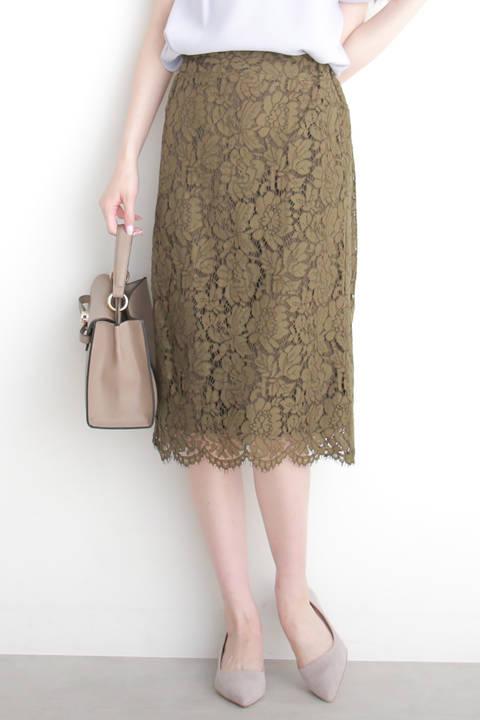 レースミモレタイトスカート