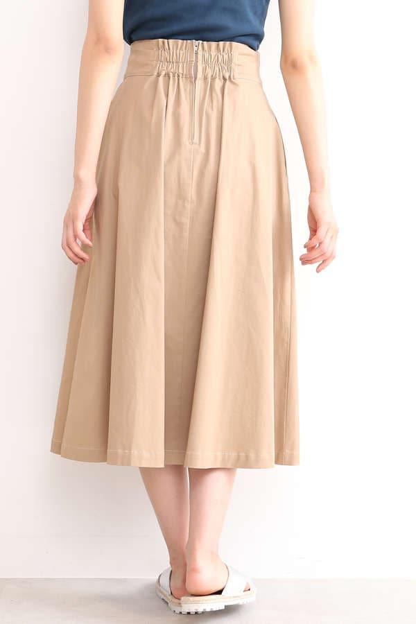 【先行予約7月中旬-7月下旬入荷予定】ハイウエストタックフレアスカート