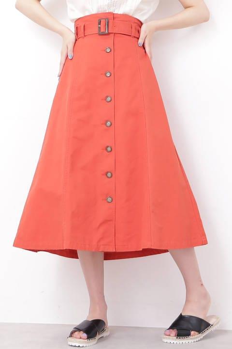 トレンチマキシAラインスカート