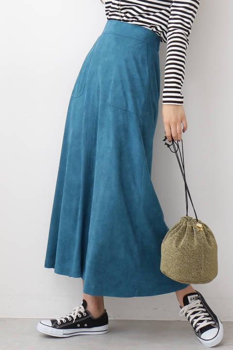 スウェードロングスカート