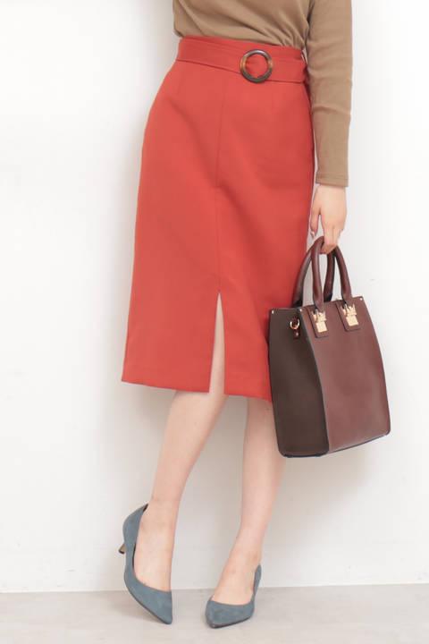 【追加生産予約11月中旬-11月下旬入荷予定】ベッコウバックルタイトスカート