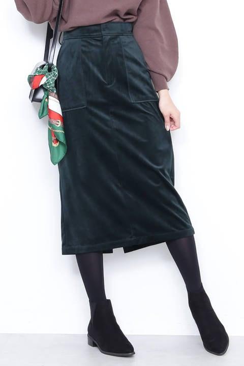 【先行予約10月上旬-10月中旬入荷予定】起毛カルゼタイトスカート