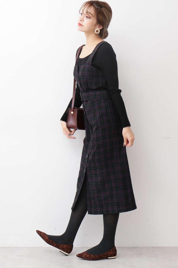 フロント釦ジャンパースカート