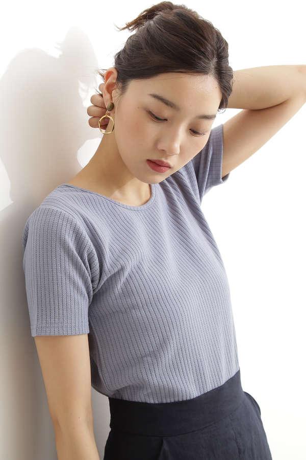 【先行予約6月中旬-6月下旬入荷予定】前後2WAYアイレットコンパクトTシャツ
