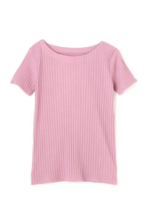 テレコボートネックTシャツ