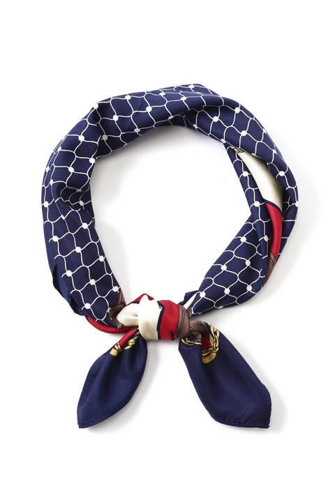 ベルト幾何柄スカーフ