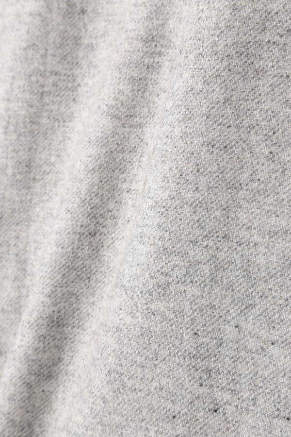 ウールサキソニーフロントスリットスカート