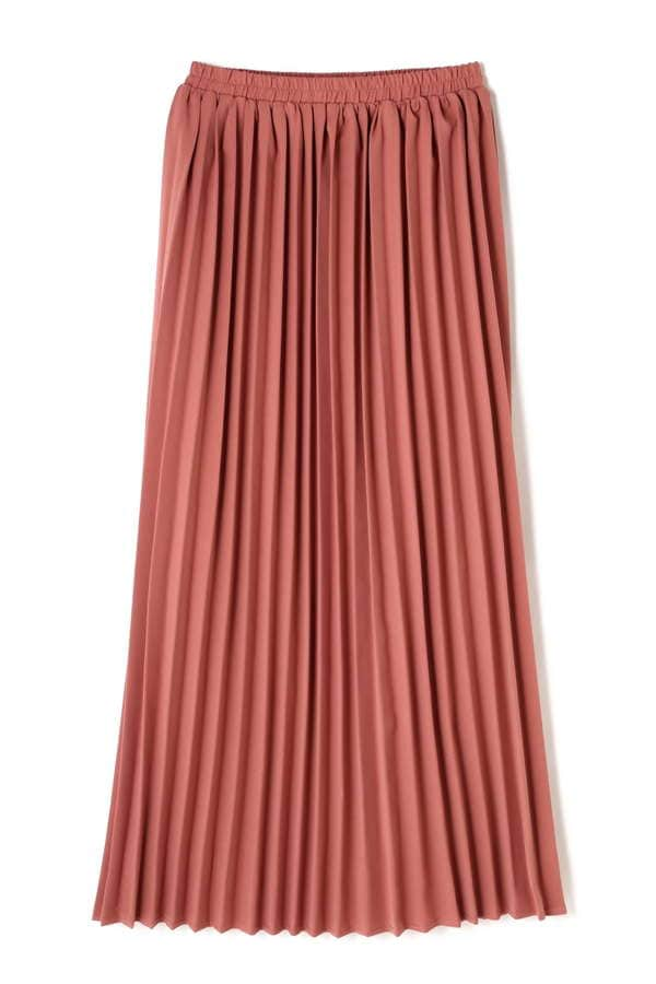 プリーツマキシスカート