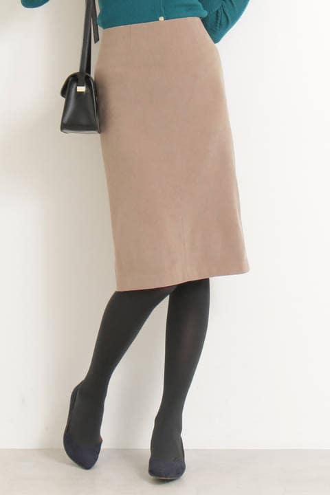 ピーチスウェードタイトスカート