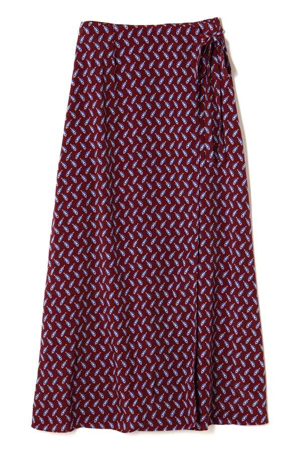 カシュクールプリントスカート