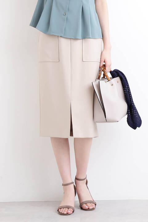 【先行予約2月中旬-2月下旬入荷予定】フロントポケットタイトスカート