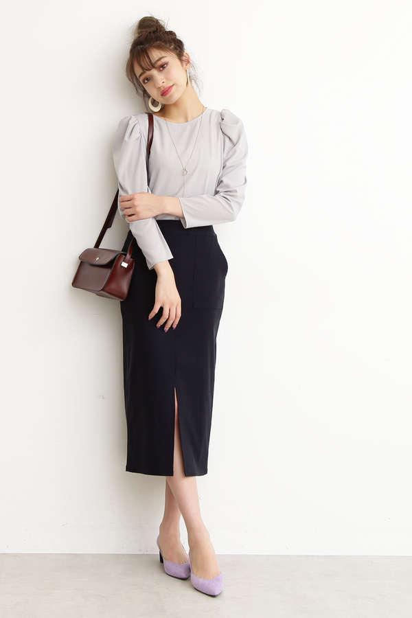 【先行予約3月中旬-3月下旬入荷予定】レーヨンナイロンストレッチスカート