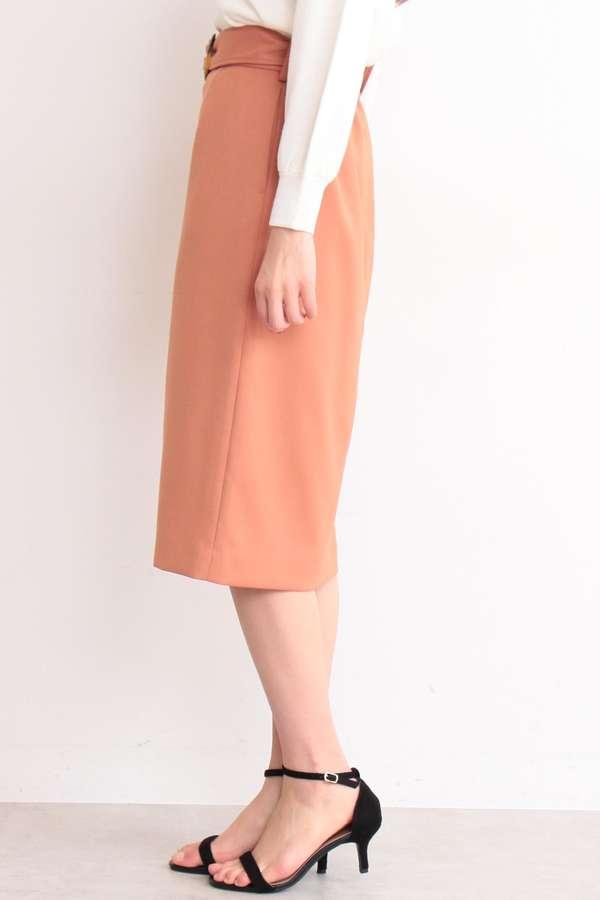 【先行予約3月中旬-3月下旬入荷予定】ベッコウバックルタイトスカート